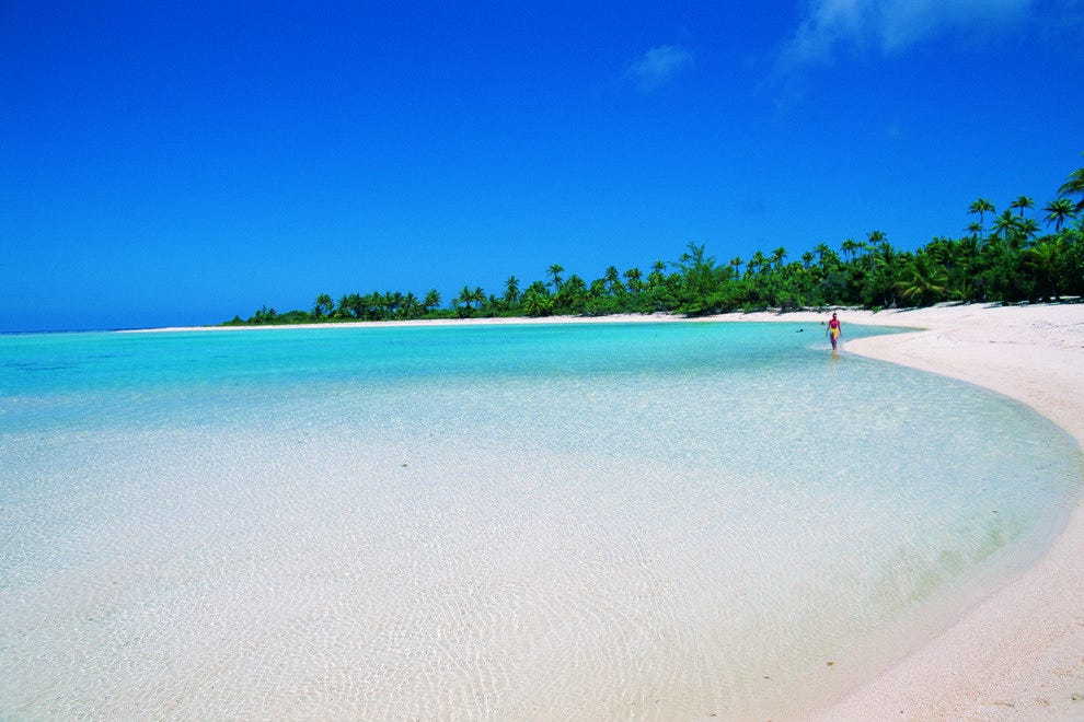 White Sand Tahitian Beach