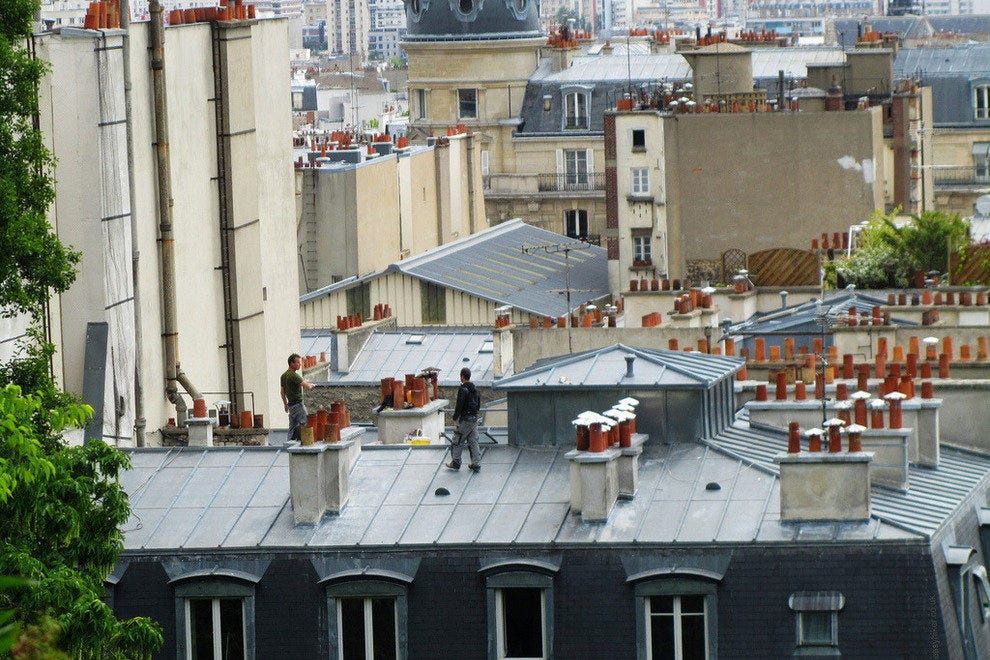 A view from the rooftops of Montmartre