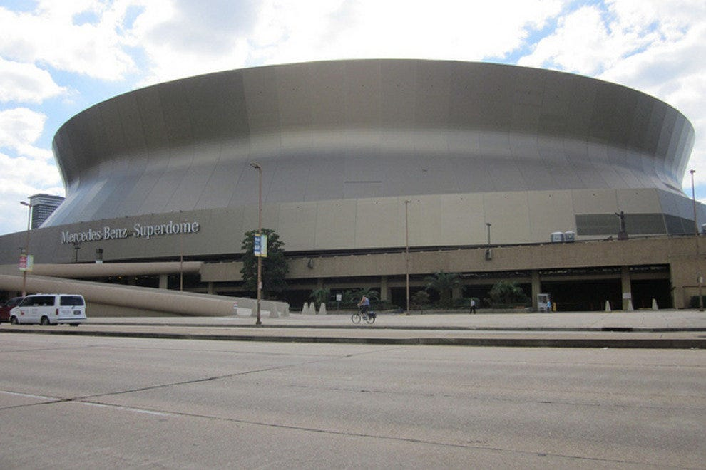Mercedes-Benz Superdome in downtown New Orleans