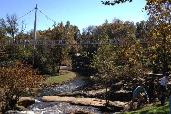 Liberty Bridge & Falls Park on the Reedy