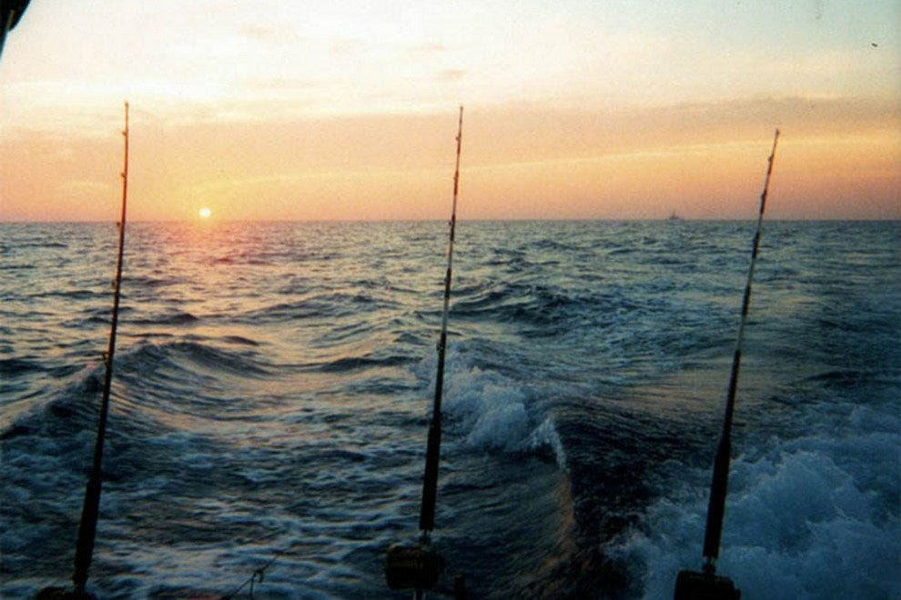 Deep-sea fishing from dusk till dawn