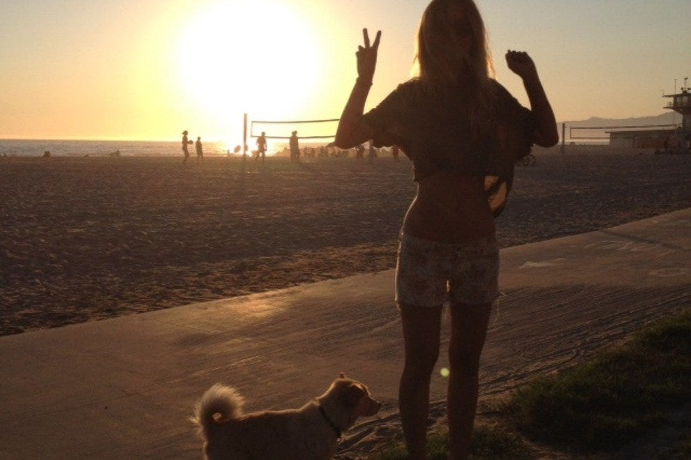 Kelsie's and Yogi's first Californian sunset