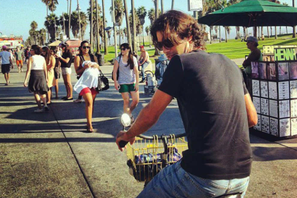 Guillaume on the Venice boardwalk