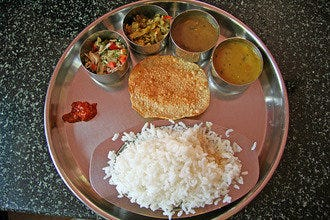 Beas Dhaba's Vegetarian Indian Thali Also Irresistible for Prague's Carnivores
