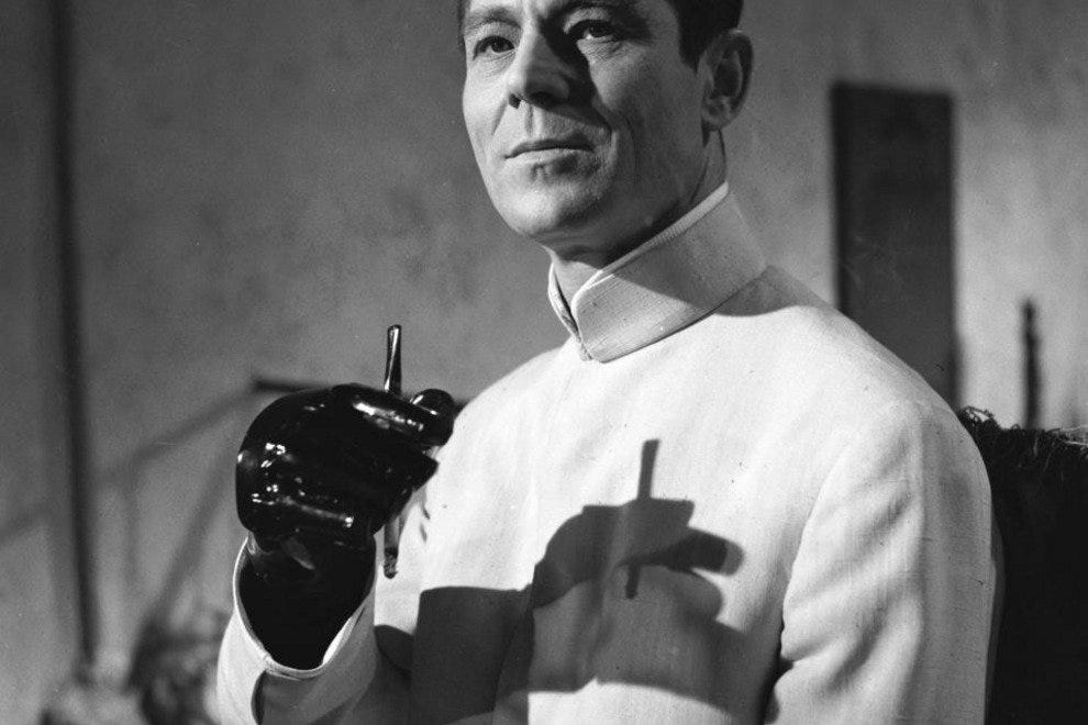 Dr. Julius No, the villain in one of the earliest James Bond films