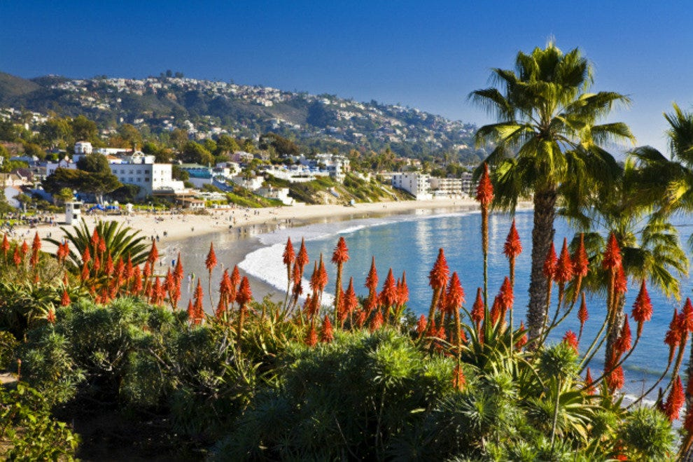 Main Beach in the heart of downtown Laguna Beach