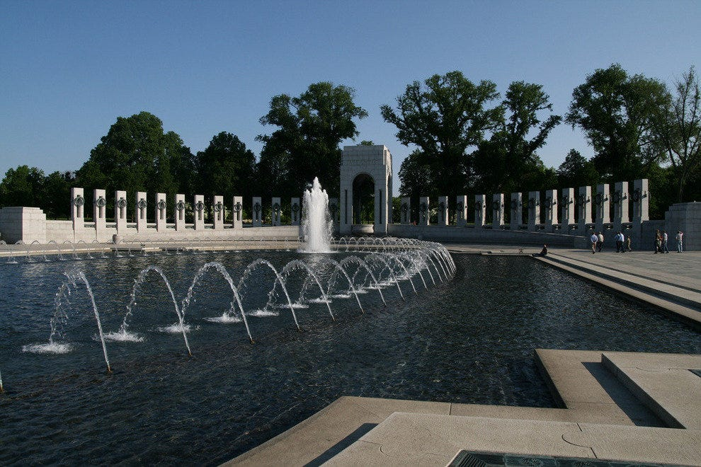 The National World War II Memorial in Washington, D.C.