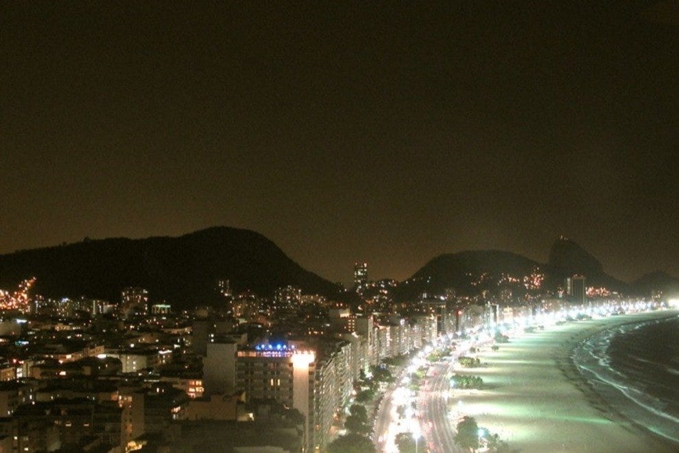 Copacbana beachfront is extremely lively after dark