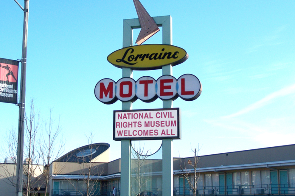 The Lorraine Motel, site of the King assassination and now part of the National Civil Rights Museum