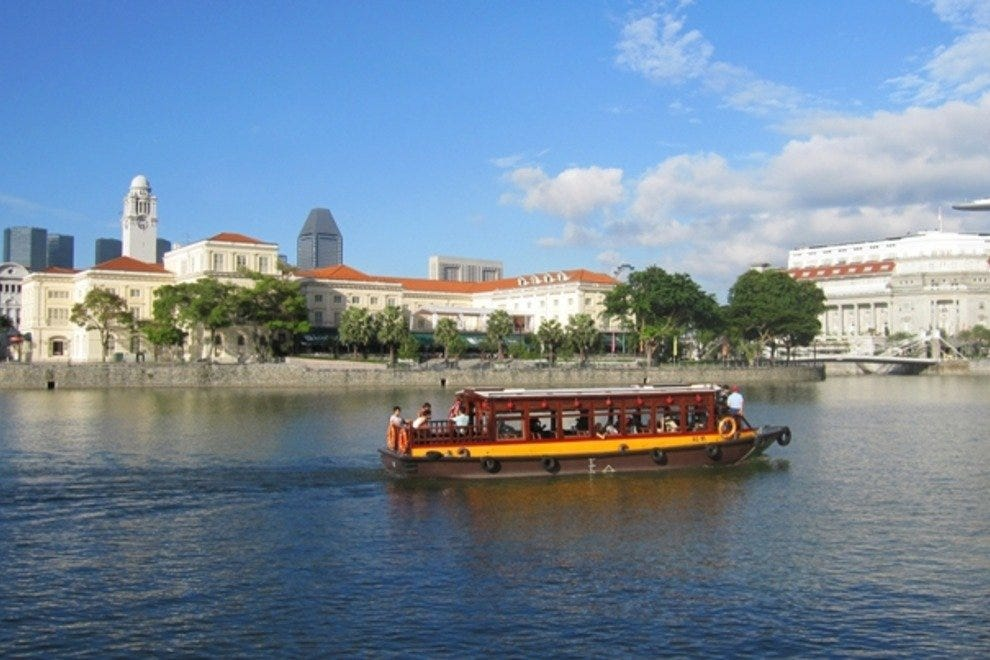 Singapore's colonial buildings line the banks of the Singapore River