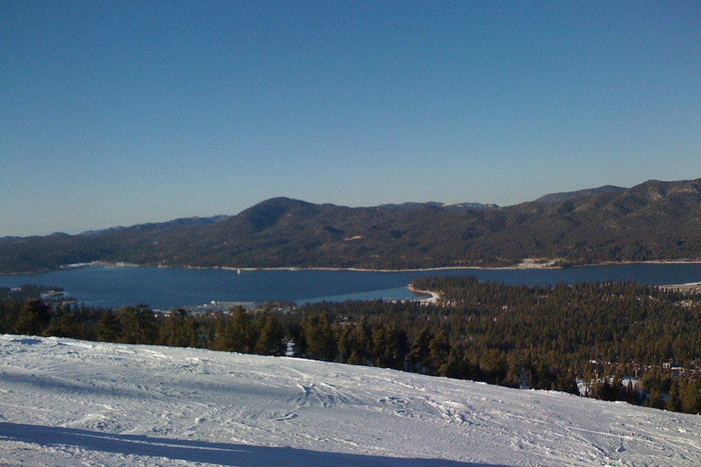 View of Big Bear Lake from the ski slope
