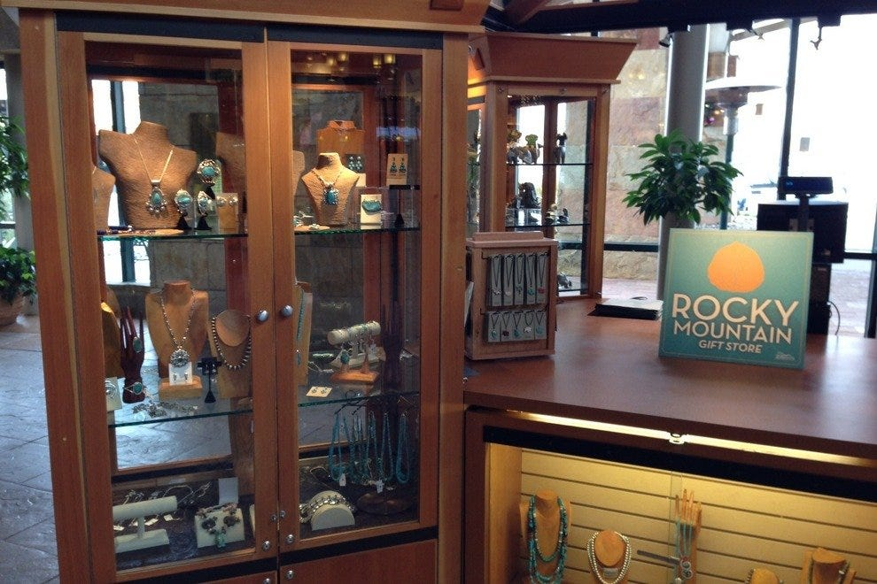 Purchase authentic American Indian jewelry at the new Rocky Mountain Gift Shop from Xanterra