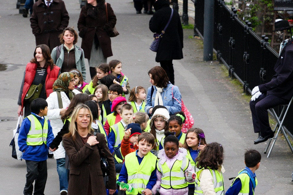 Lots of schools visit the capital every day