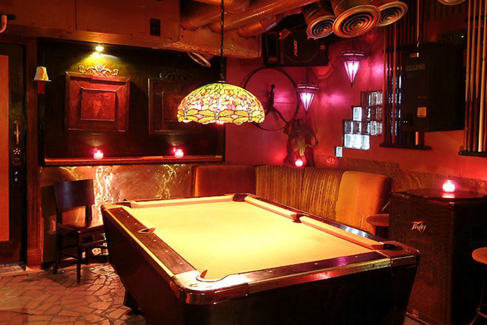 Pool table at the Grapevine Bar