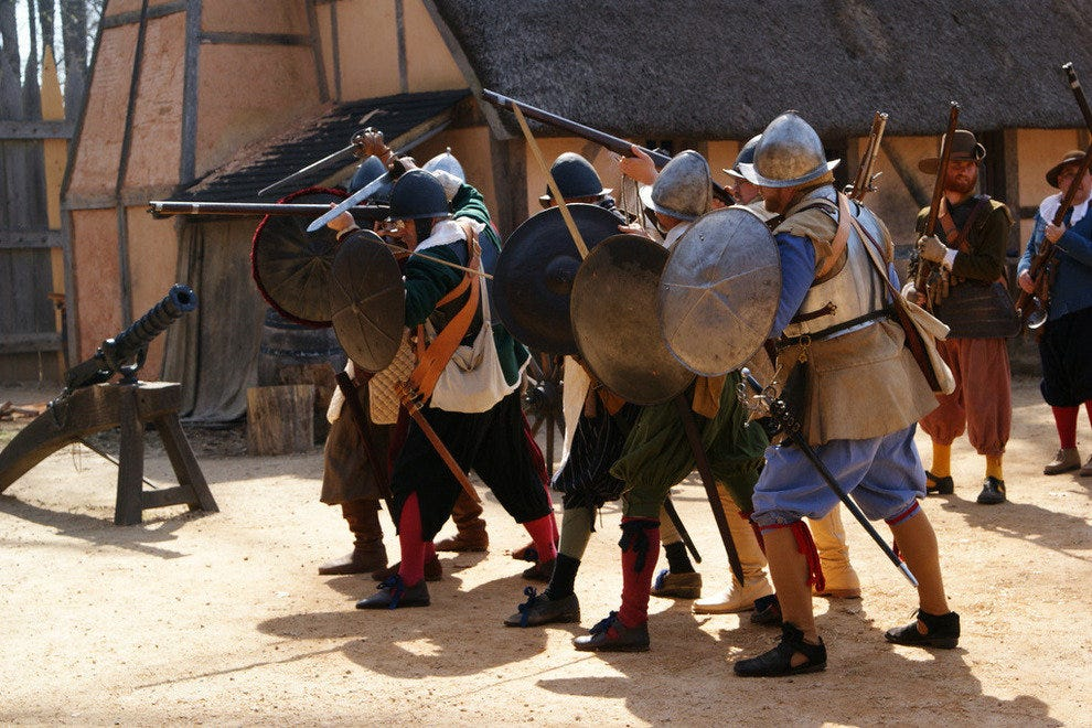 Reenactors show what life was like at the Jamestown Settlement