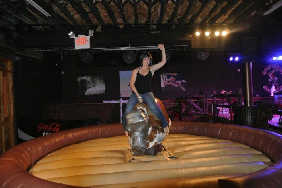 Can you resist the mechanical bull?