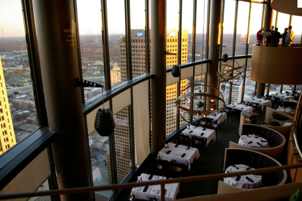 The Sun Dial Restaurant Bar View Atlanta Restaurants
