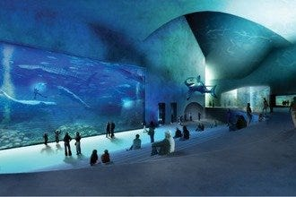 Denmark's Aquarium Becomes The Blue Planet