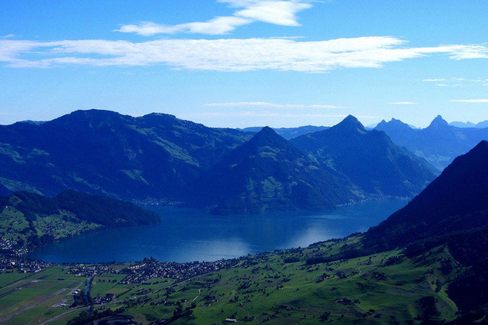 View of Lake Lucerne from Cabrio