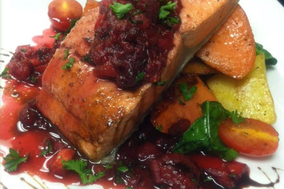 Salmon with Berry Compote