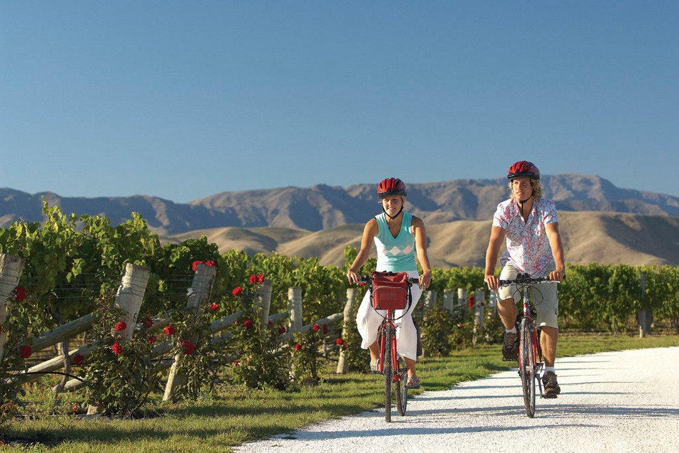 Biking the wine trail