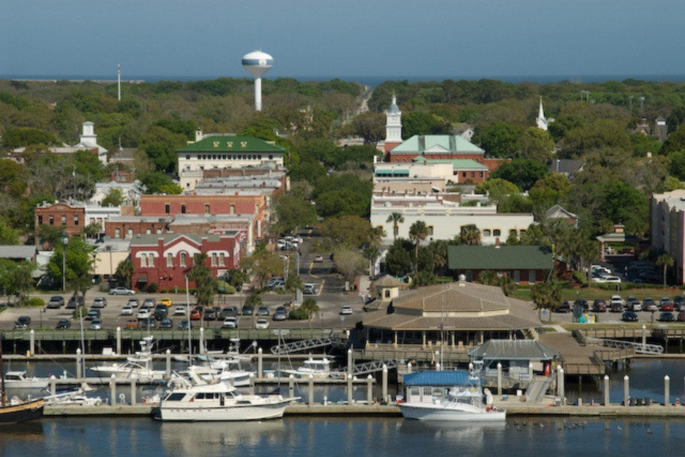 Downtown Fernandina Beach as seen from the Intracoastal Waterway