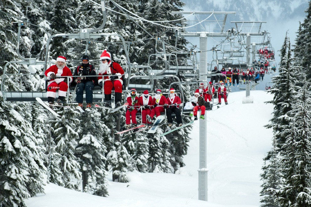 Santa Day at Whistler