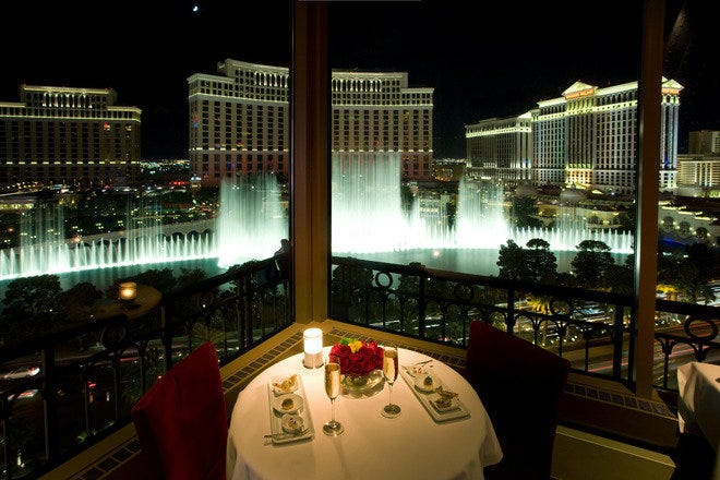 Romantic Dining in Las Vegas