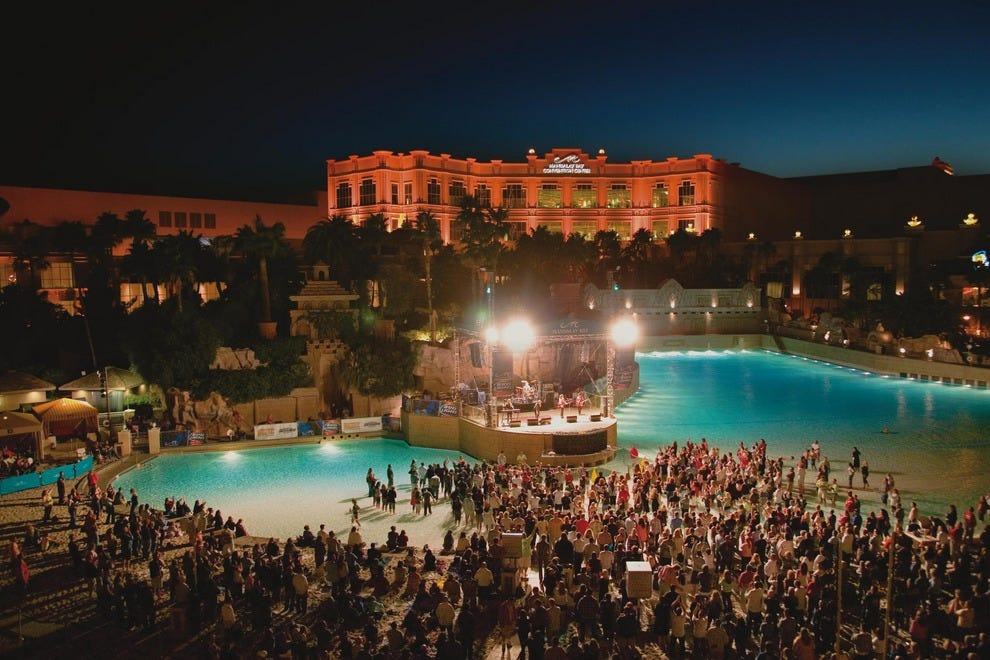 Mandalay Bay is right to levy the charges it does. AND to restrict pool attendance to key-holding, paying guests-- which other resorts do as well (Caesar's does, as I recall). rjw_lgb_ca.