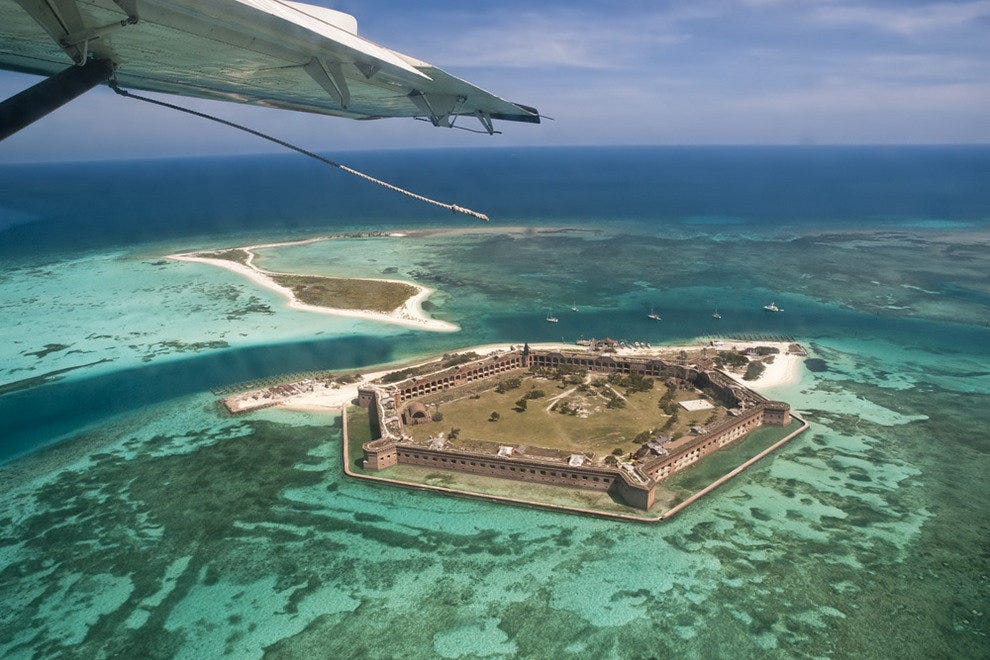 Flying over the Dry Tortugas