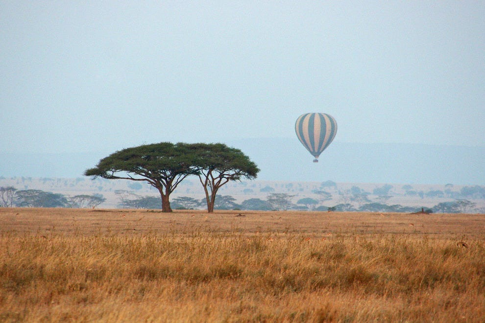 Balloon ride over the Serengeti
