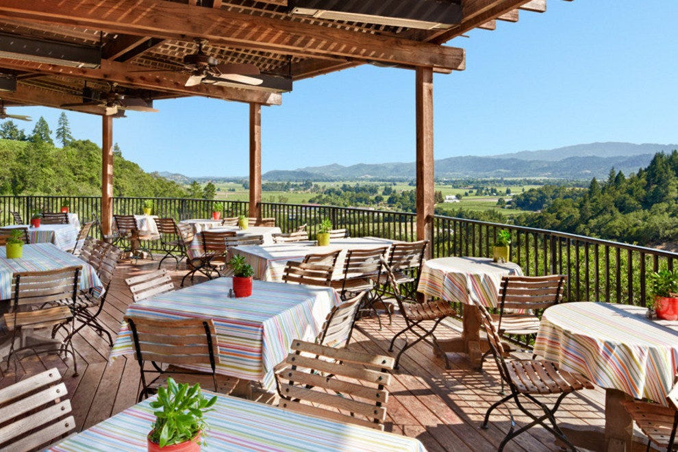 Dining with views of Napa Valley