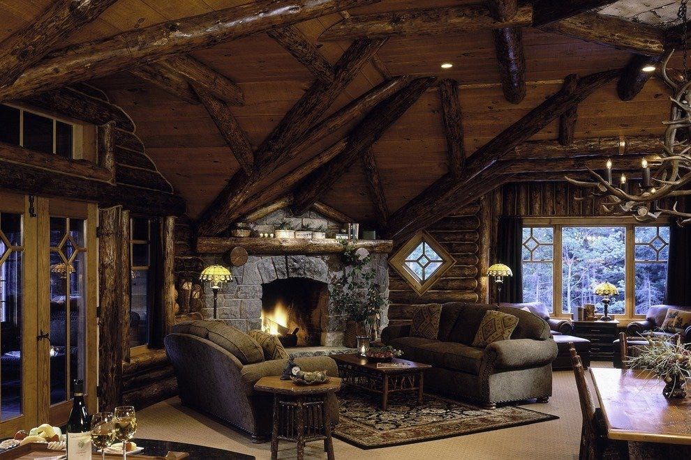 Cozy up by the fireplace