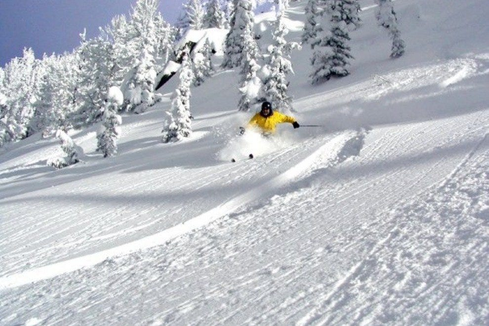 Central Idaho's Brundage Mountain sees over 320 inches of fresh powder annually!