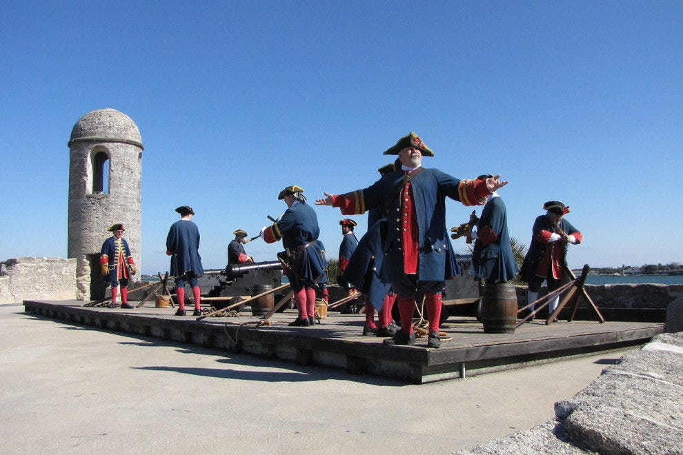 Reenactment at Castillo de San Marcos