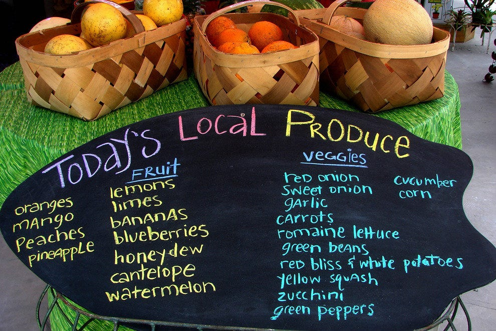 Local Foods are Plentiful and Delicious