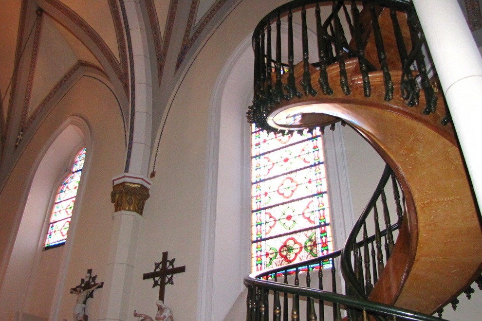 No one knows how the Miraculous Staircase was built