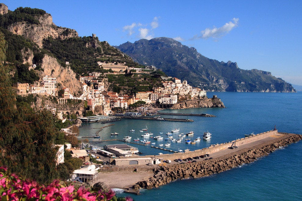 View on Amalfi, Italy