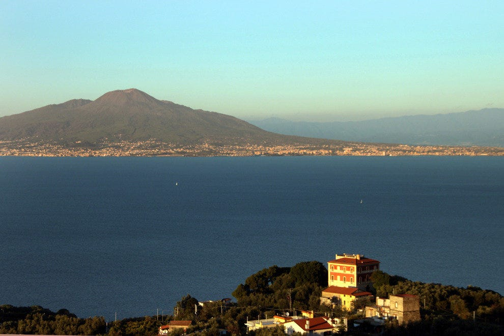 Mt. Vesuvius--the Sleeping Giant Over the Bay of Naples