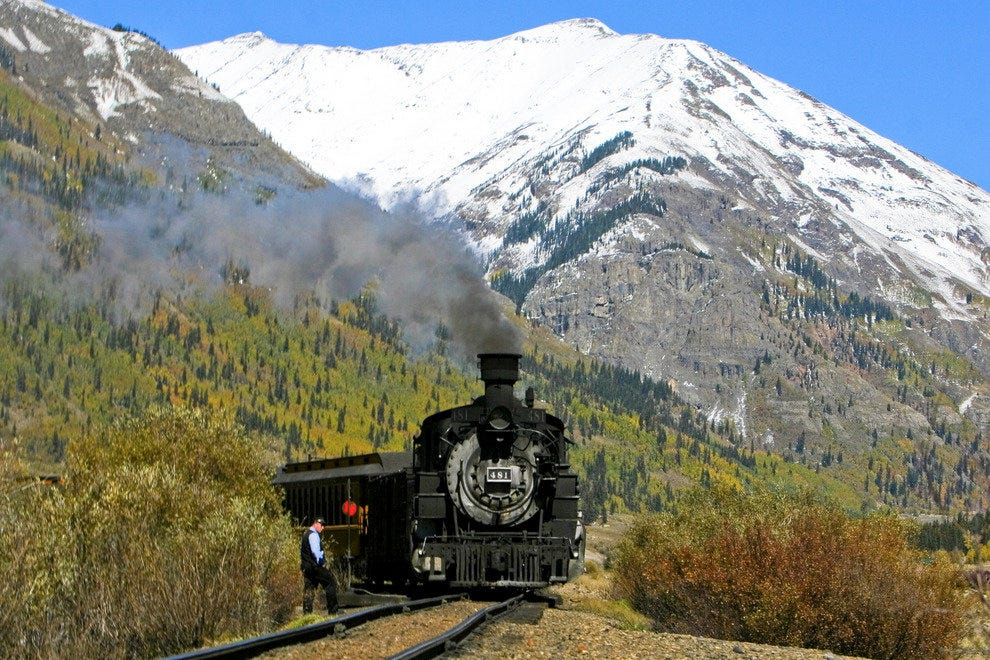 The Durango and Silverton Narrow Gauge Railroad and one of its conductors