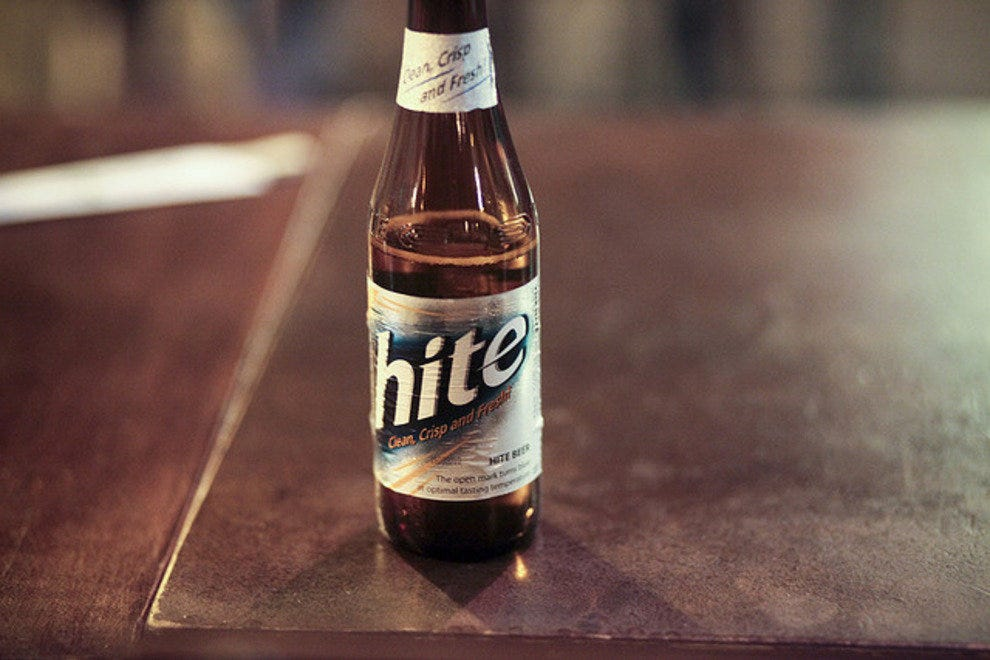 Hite is a popular brand of Korean beer