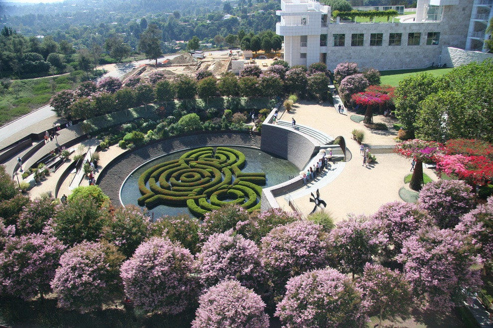 Getty Center Gardens in Los Angeles, California