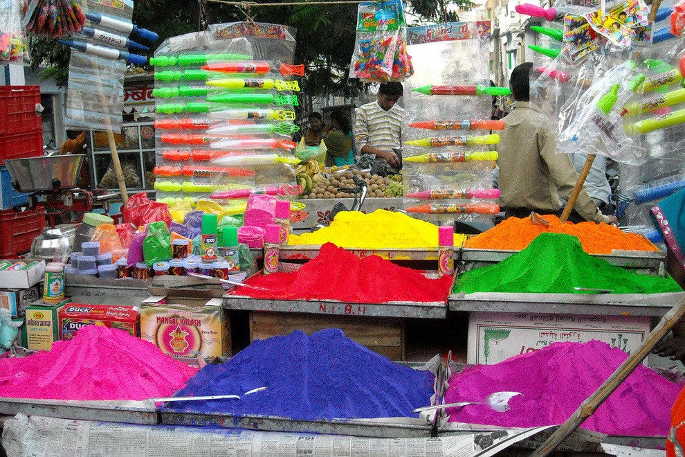 Holi powders in Rajasthan