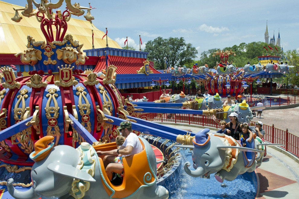 Dumbo in the New Fantasyland at Walt Disney World's Magic Kingdom