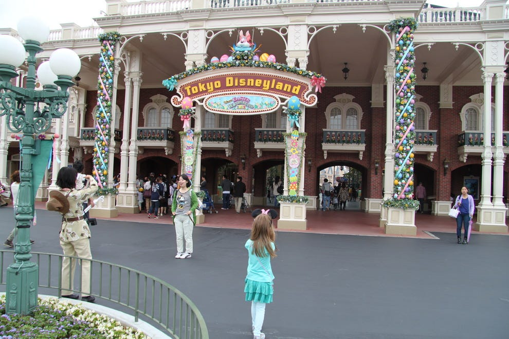 The entrance to Tokyo Disneyland