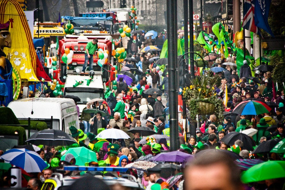 London on St Patrick's Day