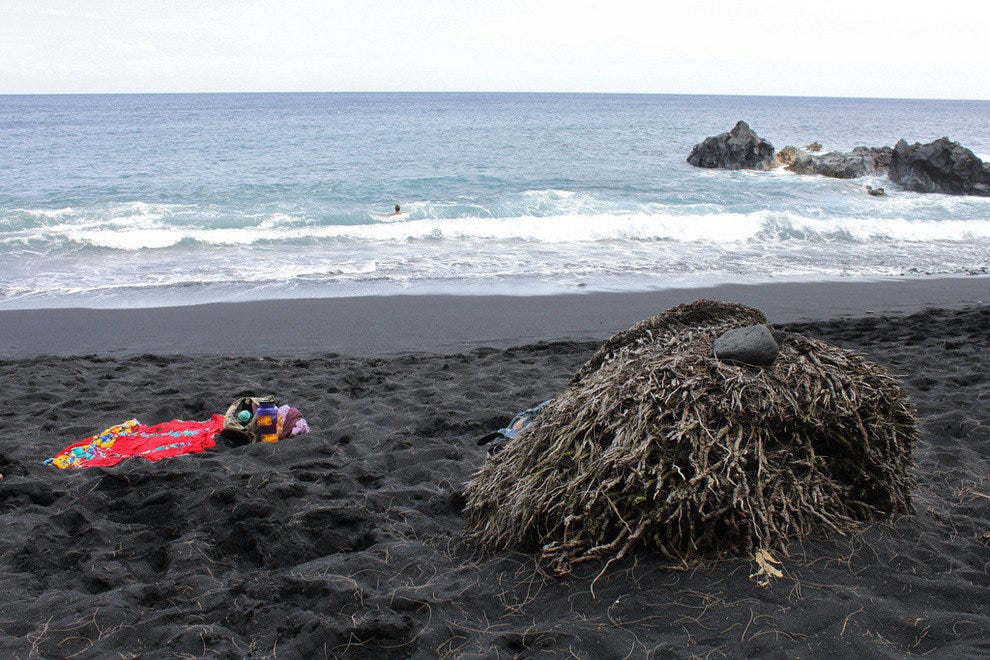 Kehena Black Sand Nude Beach on Big Island, Hawaii