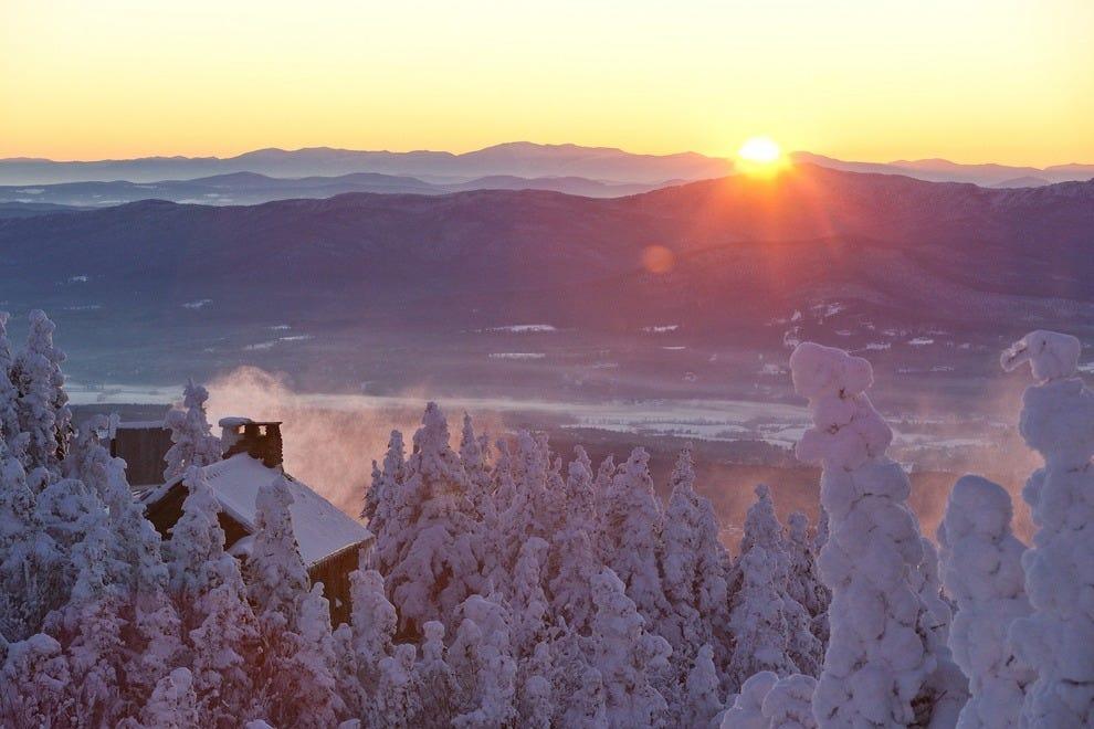 Stowe a winter wonderland in March