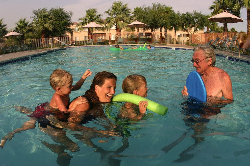 Families Enjoy the Year-Round Warm Mineral Waters