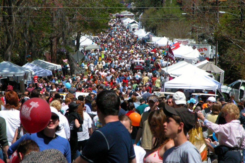 Summerville's Flowertown Festival attracts thousands of people each spring.